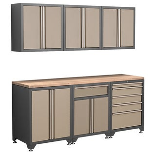 NewAge Products Pro Series 7-Piece Taupe Cabinetry Set