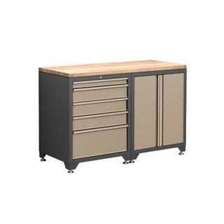 NewAge Products Pro Series 3-Piece Cabinetry Set in Taupe