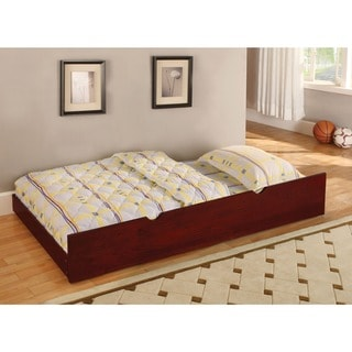 Furniture of America Ava Transitional Brown Twin Solid Wood Trundle