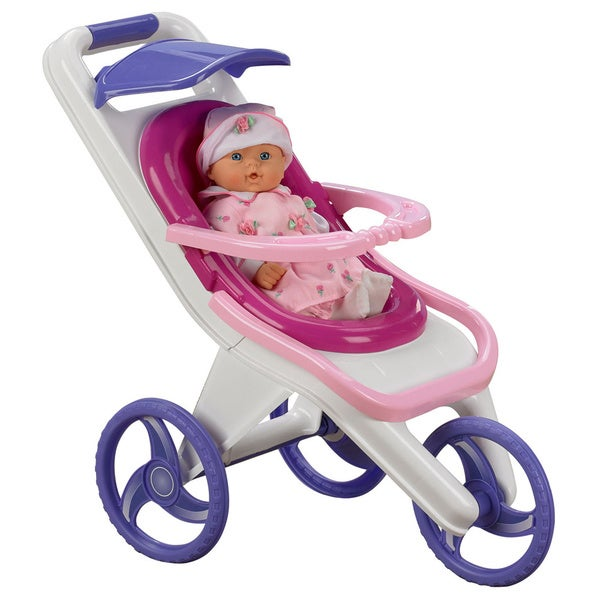 American Plastic Toys 3-in-1 Doll Stroller