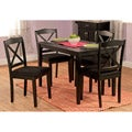 Black 5-piece Crossback Dining Set