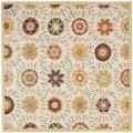 Safavieh Handmade Blossom Ivory Wool Rug (6' Square)