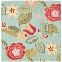 Safavieh Handmade Blossom Blue Wool Rug (6' Square)