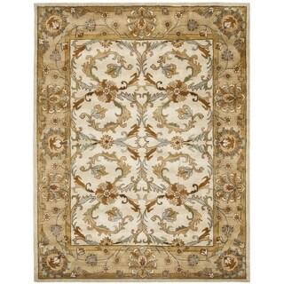 Safavieh Handmade Heritage Zabol Beige/ Gold Wool Rug (6' x 9')