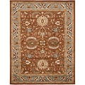 Handmade Heritage Darab Brown/ Blue Wool Rug (7'6 x 9'6)