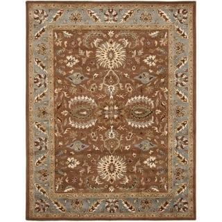 Safavieh Handmade Heritage Darab Brown/ Blue Wool Rug (7'6 x 9'6)