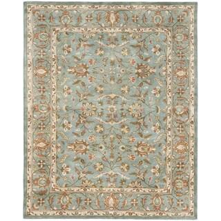 Handmade Heritage Nir Blue Wool Rug (9'6 x 13'6)