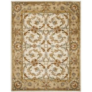 Safavieh Handmade Heritage Zabol Beige/ Gold Wool Rug (7'6 x 9'6)