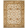 Handmade Heritage Zabol Beige/ Gold Wool Rug (7&#39;6 x 9&#39;6)