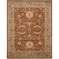 Handmade Heritage Darab Brown/ Blue Wool Rug (8'3 x 11')