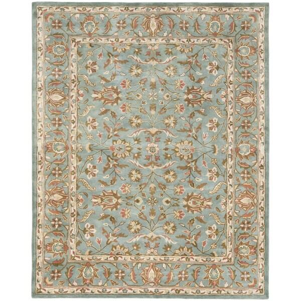 Safavieh Handmade Heritage Nir Blue Wool Rug (5' x 8')