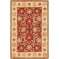 Safavieh Handmade Heritage Khor Red/ Beige Wool Rug (6' x 9')
