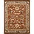 Handmade Heritage Darab Brown/ Blue Wool Rug (9'6 x 13'6)