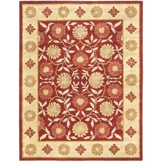 Safavieh Handmade Heritage Khor Red/ Beige Wool Rug (8'3 x 11')