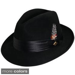 Stacy Adams Men's Crushed Wool Felt Fedora