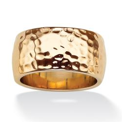 PalmBeach 14k Goldplated Hammered Band Tailored