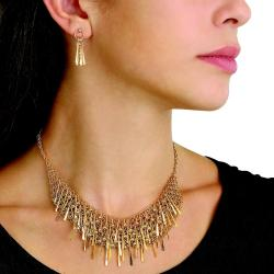 Toscana Collection Goldtone Necklace and Earring Set