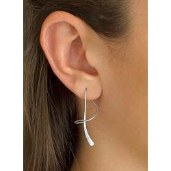 Toscana Collection Sterling Silver Spiral Hook-type Dangle Earrings