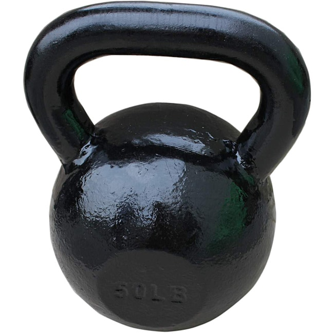 Sunny Black 50-pound Kettle Bell