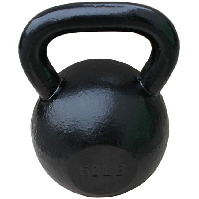 Sunny Black 60-pound Kettle Bell