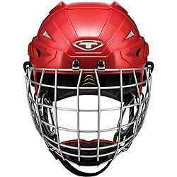 Tour Hockey Spartan GX Red Roller Hockey Helmet with Cage
