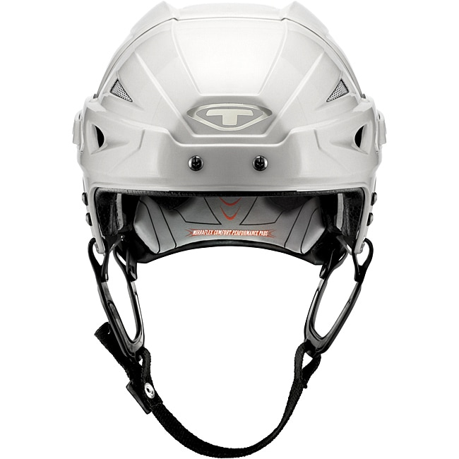 White Helmet White Cage Hockey Helmet With Cage