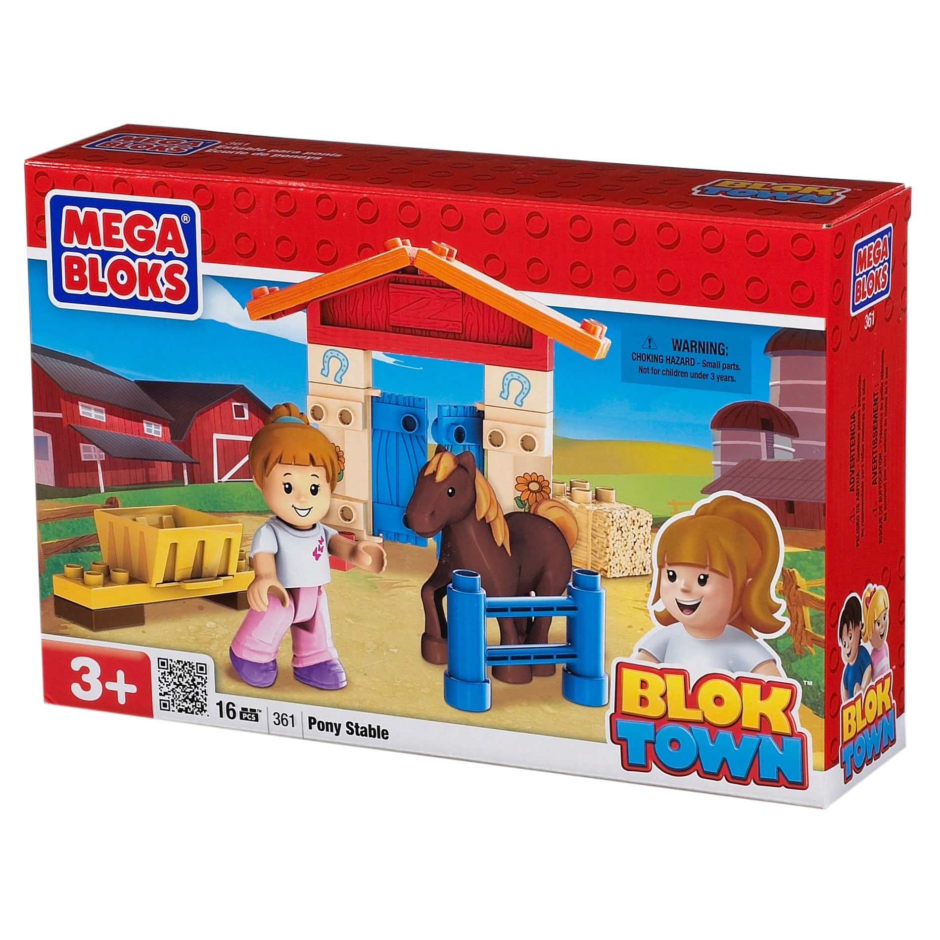 Mega Bloks BlokTown Pony Stable Play Set