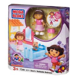 Mega Bloks Dora The Explorer Buildable Bedroom Play Set