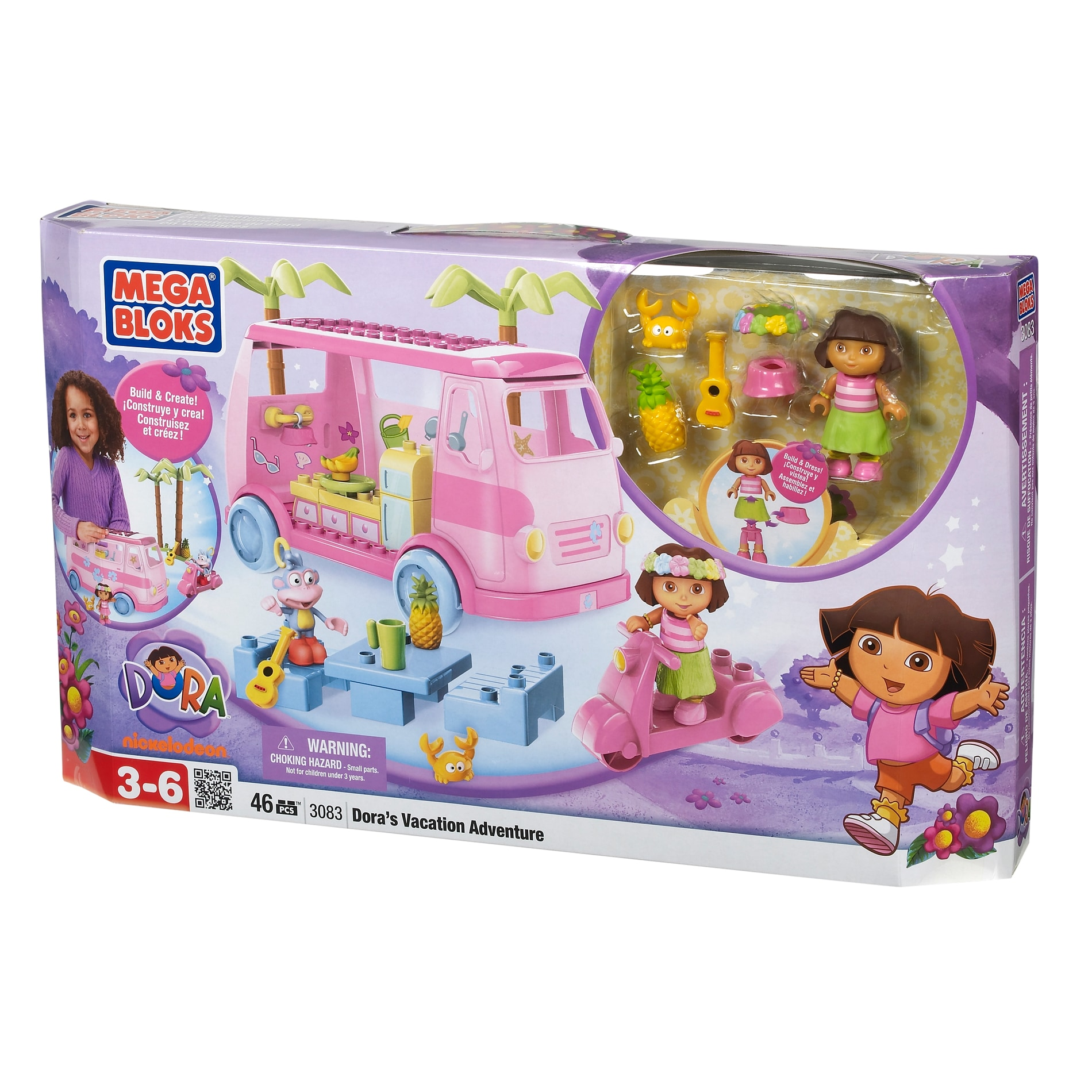 Mega Bloks Dora The Explorer Vacation Adventure Play Set