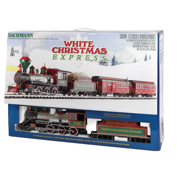 Bachmann G Scale White Christmas Train Set
