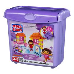 Mega Bloks Dora's Buildable Playset Art Adventure