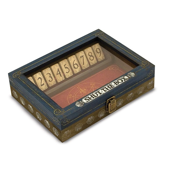melissa doug classic wooden shut the box game 1