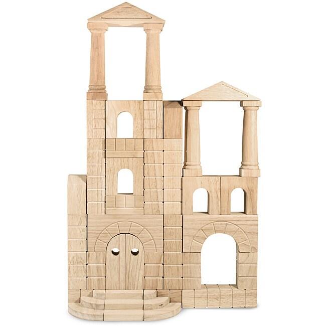 Melissa & Doug Architectural Natural-finished Unit Blocks (Set of 44)