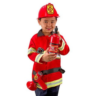 Melissa & Doug Fire Chief Role Play Costume Set