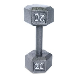 CAP Barbell 20 lb Grey Cast Iron Hex Dumbbell