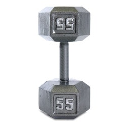 CAP Barbell 55 lb Grey Cast Iron Hex Dumbbell