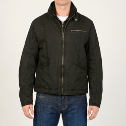 R&O Men's Cotton Ottoman Double Collar Jacket