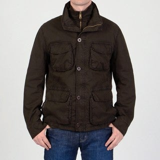 R&O Men's 'Ottoman' Brown Cotton Car Coat