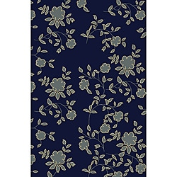 Impressions Navy Blue Area Rug (5'5 x 7'7)