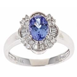 D'Yach 14k Gold Tanzanite and 3/8ct TDW Diamond Ring (G-H, I1-I2)