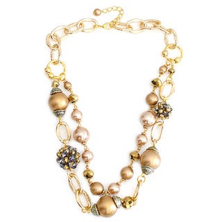 Nexte Jewelry Goldtone Faux Pearl Necklace