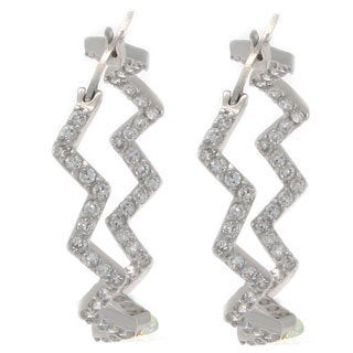 NEXTE Jewelry Silvertone Cubic Zirconia Zig-Zag Earrings