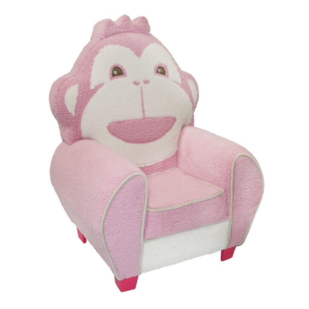 Magical Harmony Kids Pink Cuddle Monkey Chair