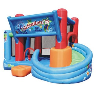 Kidwise Celebration Bounce House with Tower Slide (Blower Included)