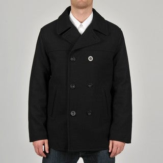Chaps Men's Double-breasted Wool-blend Peacoat