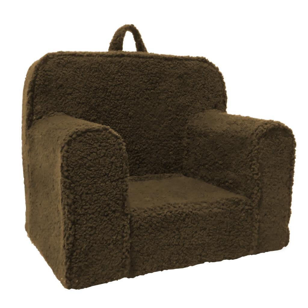 Magical Harmony Kids Chocolate Sherpa Everywhere Foam Chair