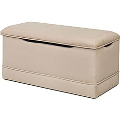 Magical Harmony Kids Beige Microfiber Deluxe Toy Box