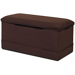 Magical Harmony Kids Chocolate Microfiber Deluxe Toy Box