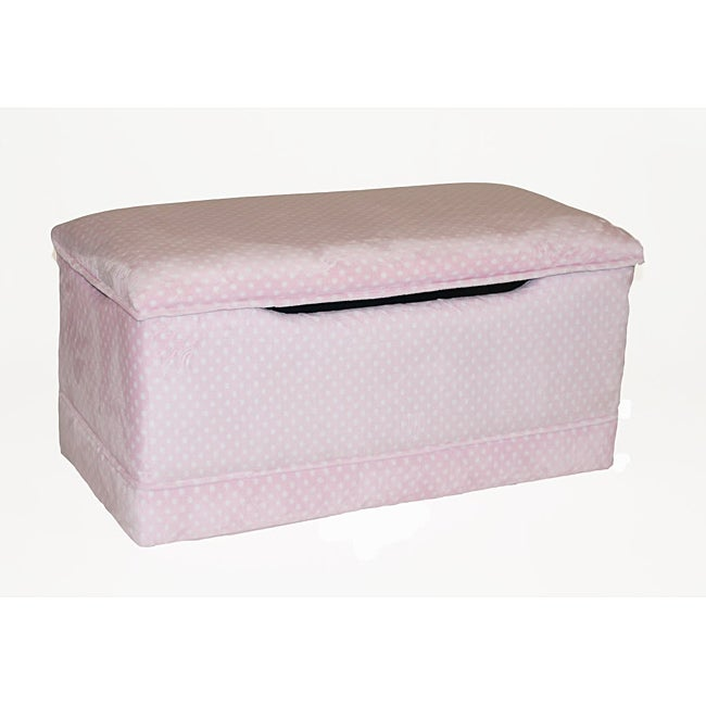 Magical Harmony Kids Pink Dot Deluxe Toy Box