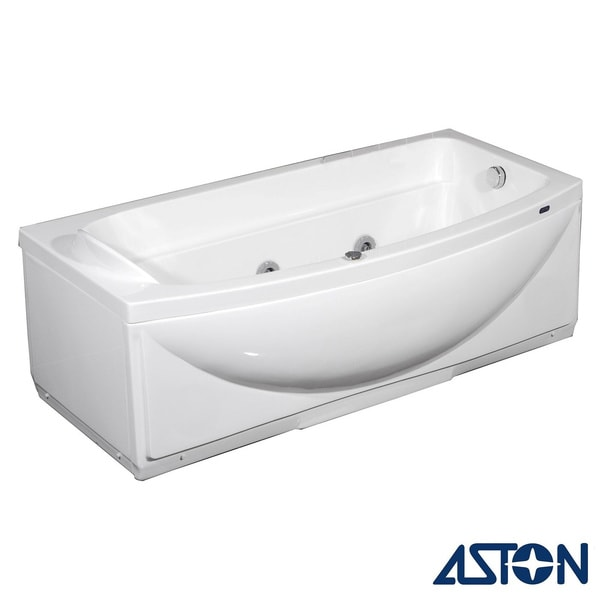 Aston 34-in x 68-in Jetted Whirlpool Tub in White 8491793